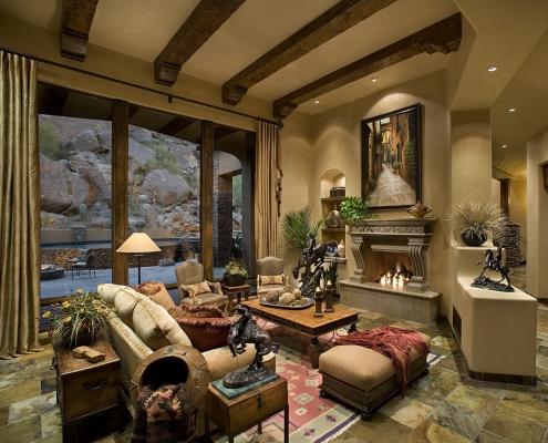 Tuscan/Spanish Eclectic design in Troon Ridge Estates, Scottsdale AZ