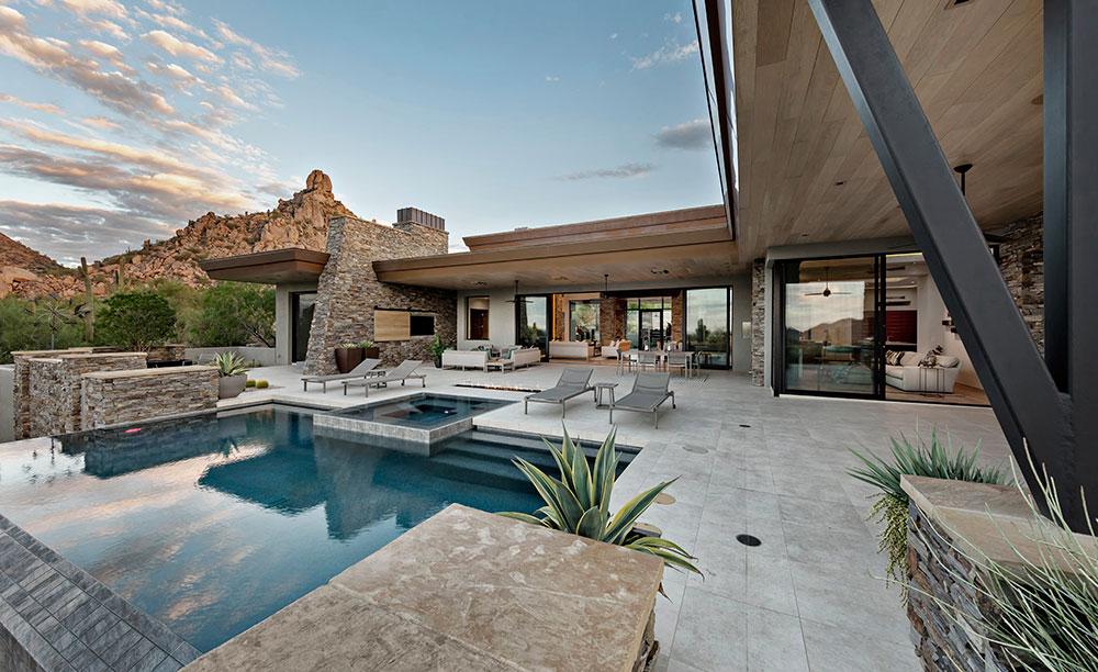 CONTEMPORARY SOUTHWEST CUSTOM HOME IN DESERT HIGHLANDS, SCOTTSDALE AZ